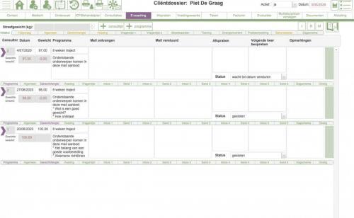 e-coaching overzicht